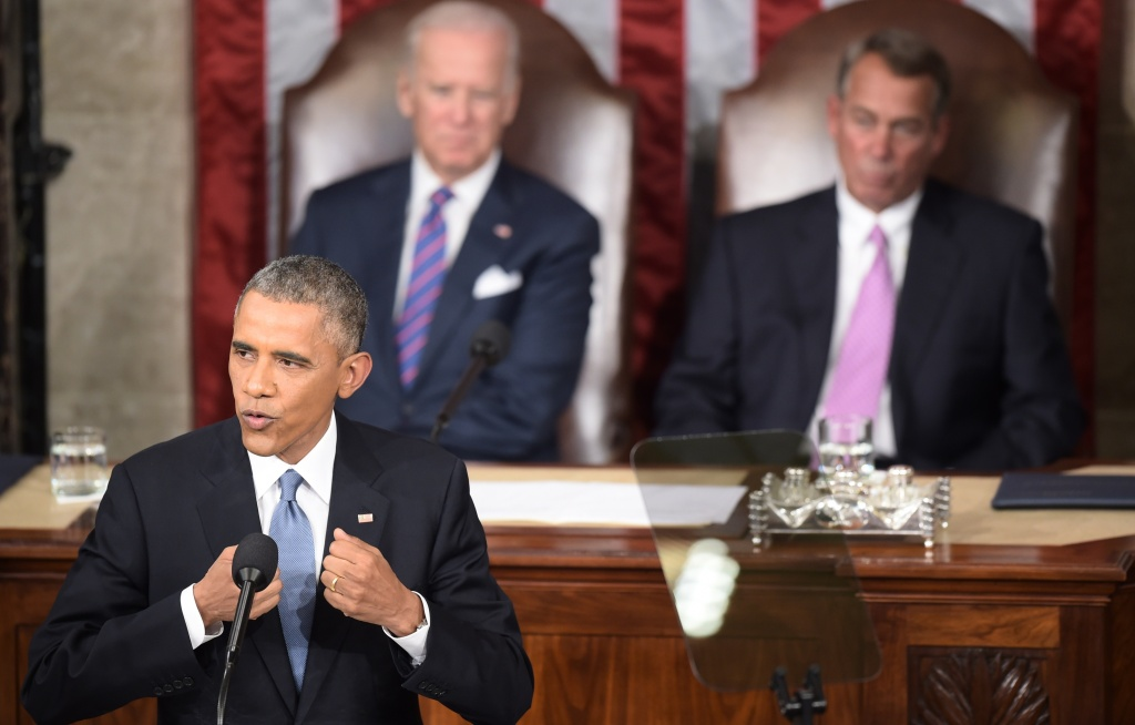 US President Barack Obama delivers the 2015 State of the Union address
