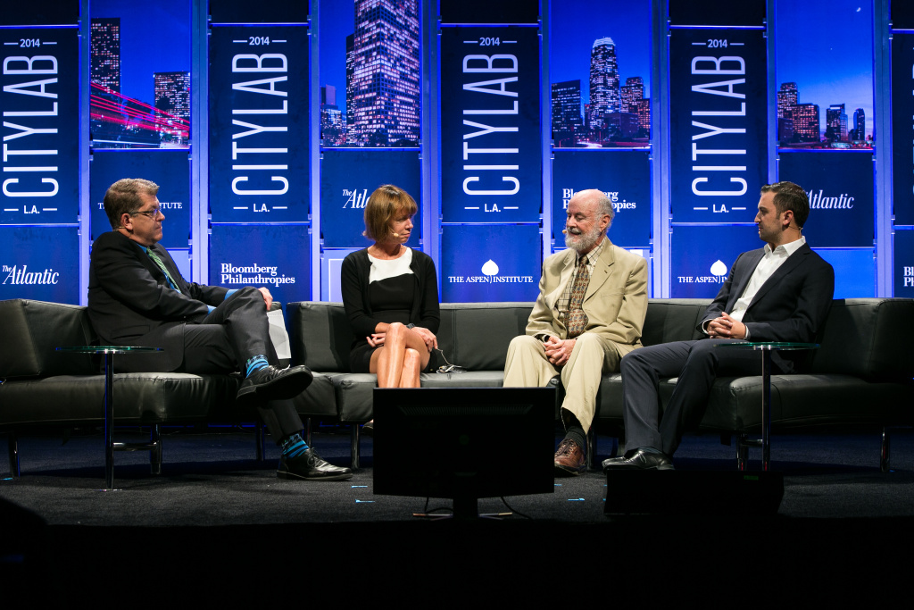 Janette Sadik-Khan (center) of Bloomberg Associates discusses