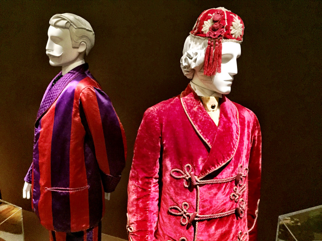In Victorian England, rich men went to their man caves and smoked in rich, colorful costumes like these.
