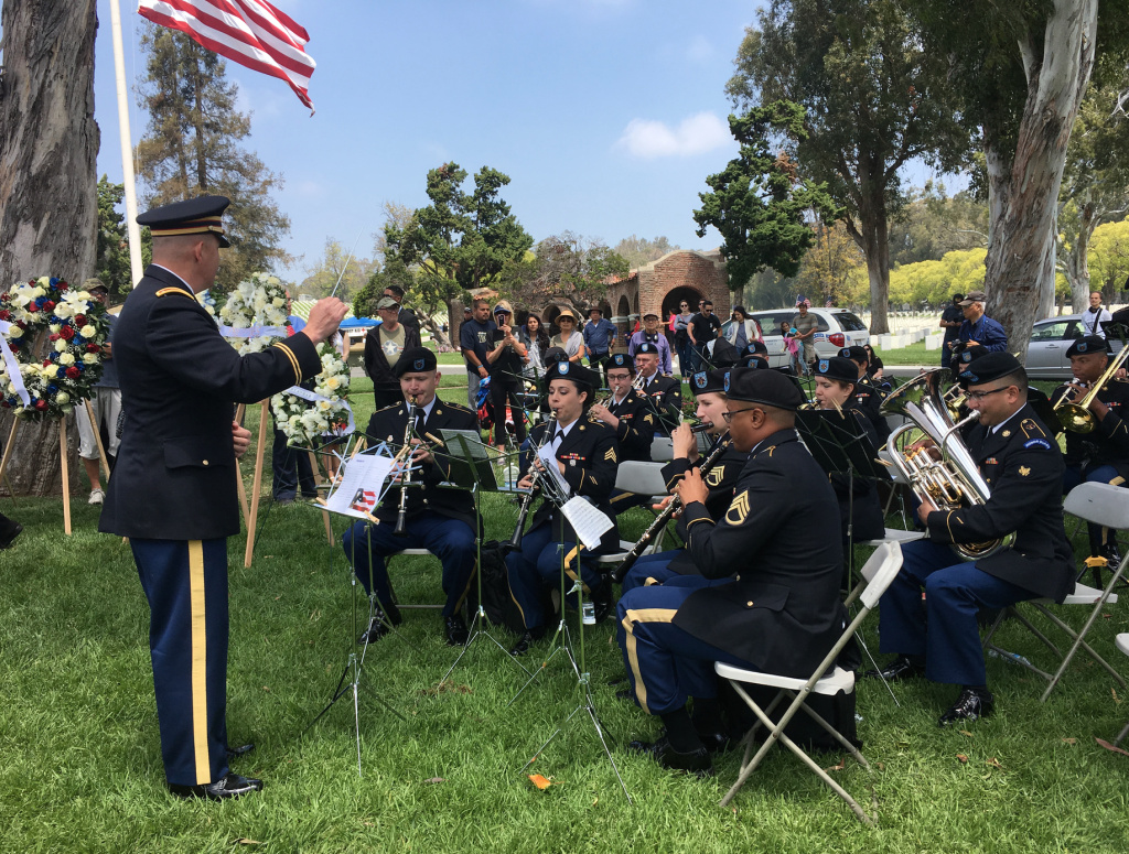 At the annual Memorial Day event at National cemetery in Westwood, on May 28th 2018, America's fallen soldiers, and those of other countries, were commemorated.