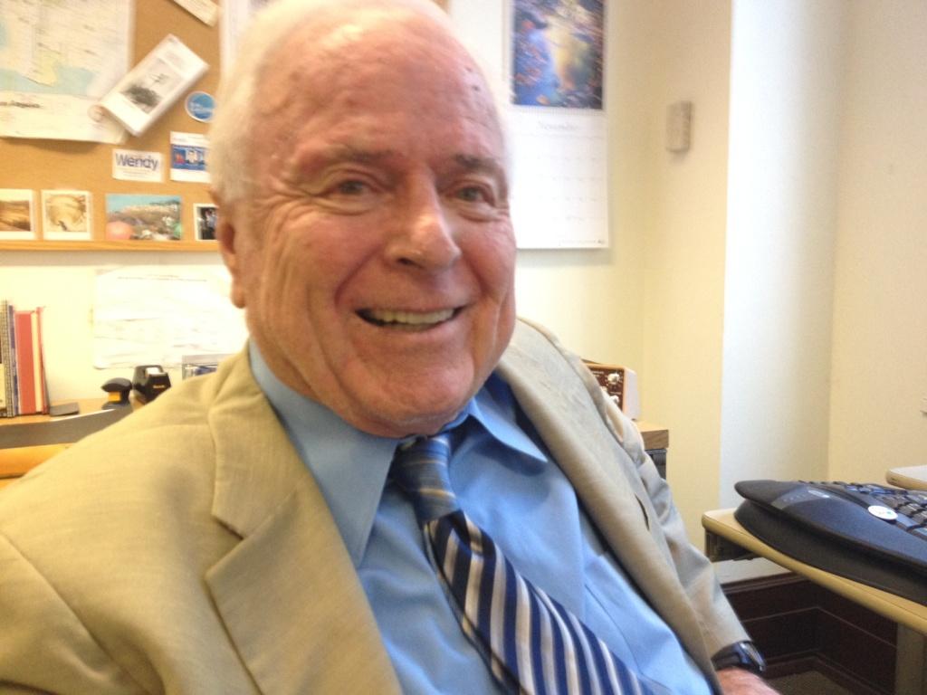 Former Los Angeles Mayor Richard Riordan at City Hall Tuesday, November 20, 2012.