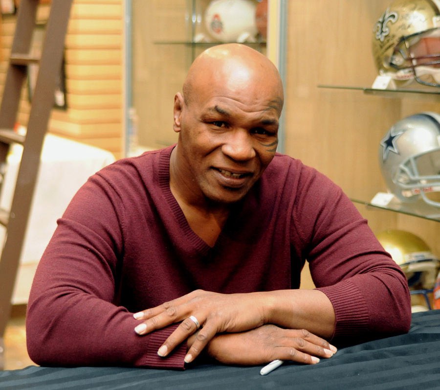 Former heavyweight boxing champion Mike Tyson attends an autograph-signing session in Las Vegas, Nevada.