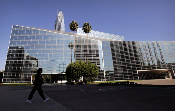 In this Oct. 27, 2011 file photo, the Crystal Cathedral stands in Garden Grove, Calif.