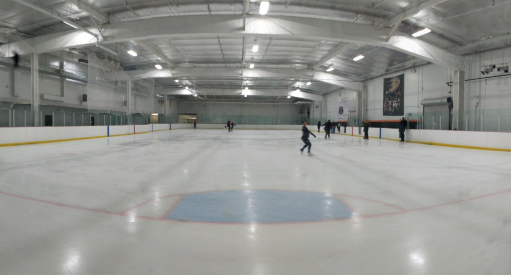 Skaters take to the ice at The Rinks in Lakewood.