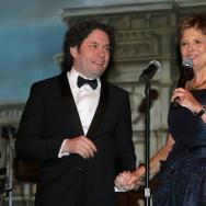 Deborah Borda and Gustavo Dudamel at the LA Phil's Opening Night Gala for the 2016/17 season.
