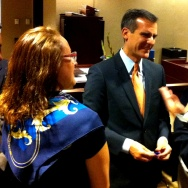 7/5/2013: New LA Mayor Eric Garcetti meeting and greeting at Van Nuys City Hall