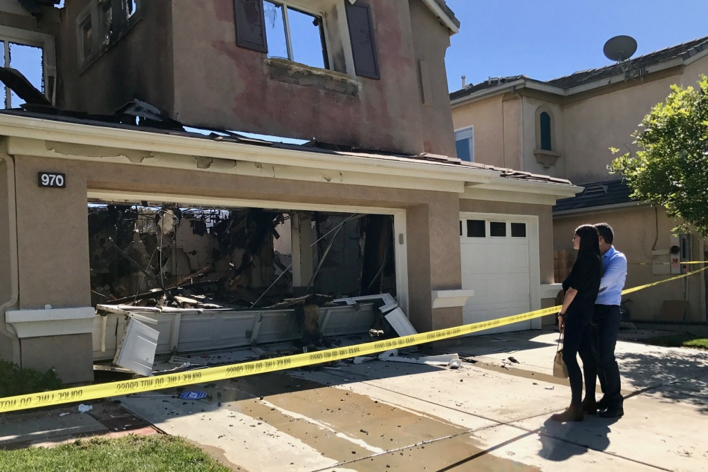 Ashley and Farzin Farajzadeh were among at least a half dozen families who lost their homes to the fire that broke out in the Anaheim Hills on Oct. 9, 2017. The newlyweds left their home, with nothing but their work bags and the clothes on their backs, before the fire broke out.