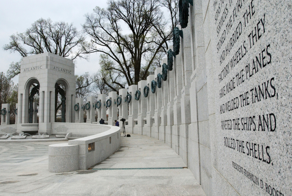 FILE PHOTO: The World War II Memorial is seen during a press viewing on the National Mall April 8, 2004 in Washington, D.C.