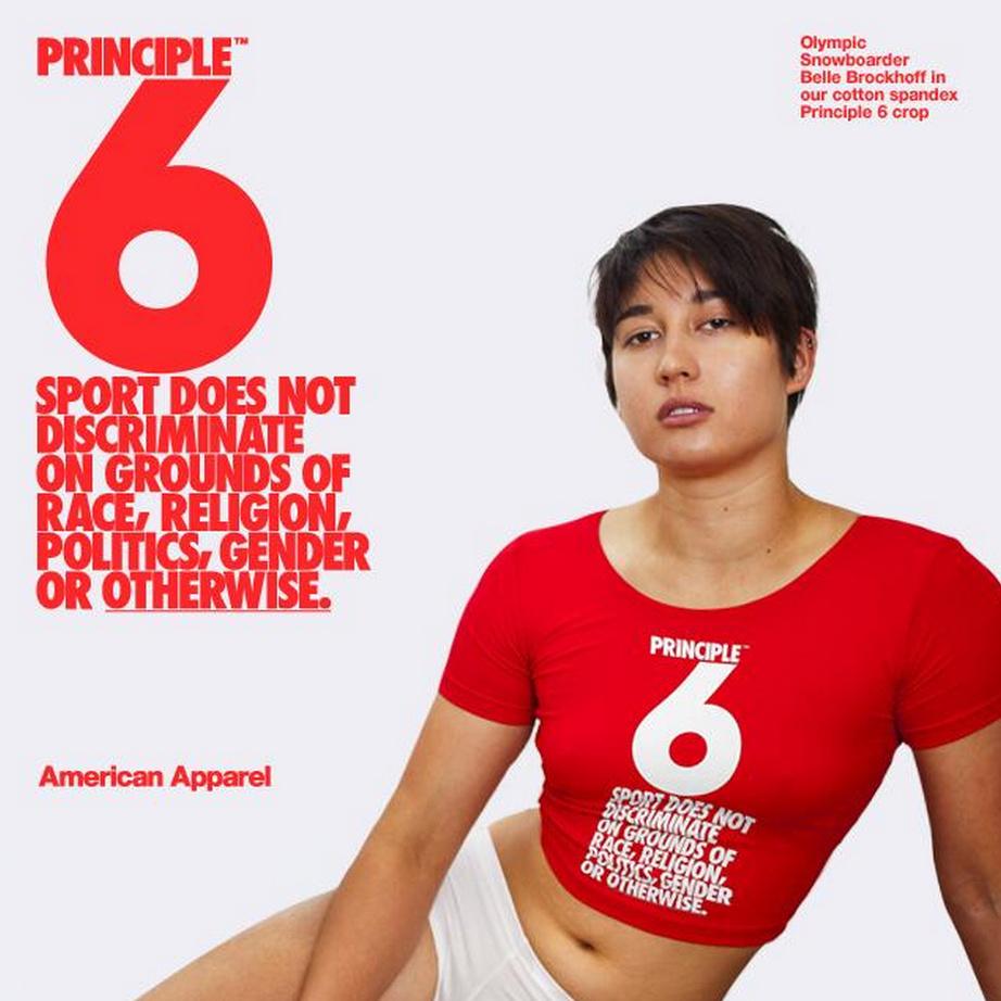 American Apparel advertisement.