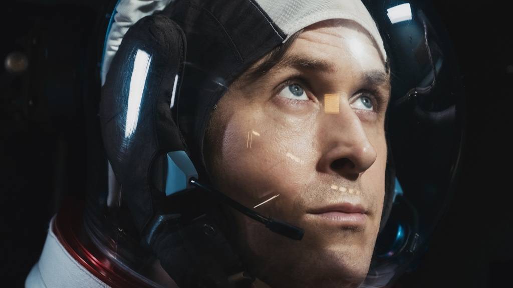 Ryan Gosling as Neil Armstrong in <em>First Man.</em>