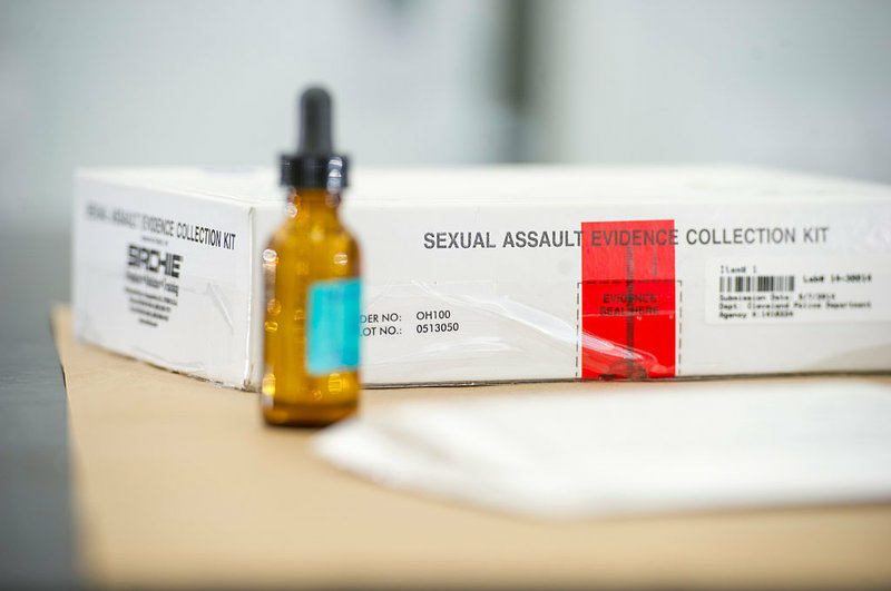 A collection kit used to document sexual assault