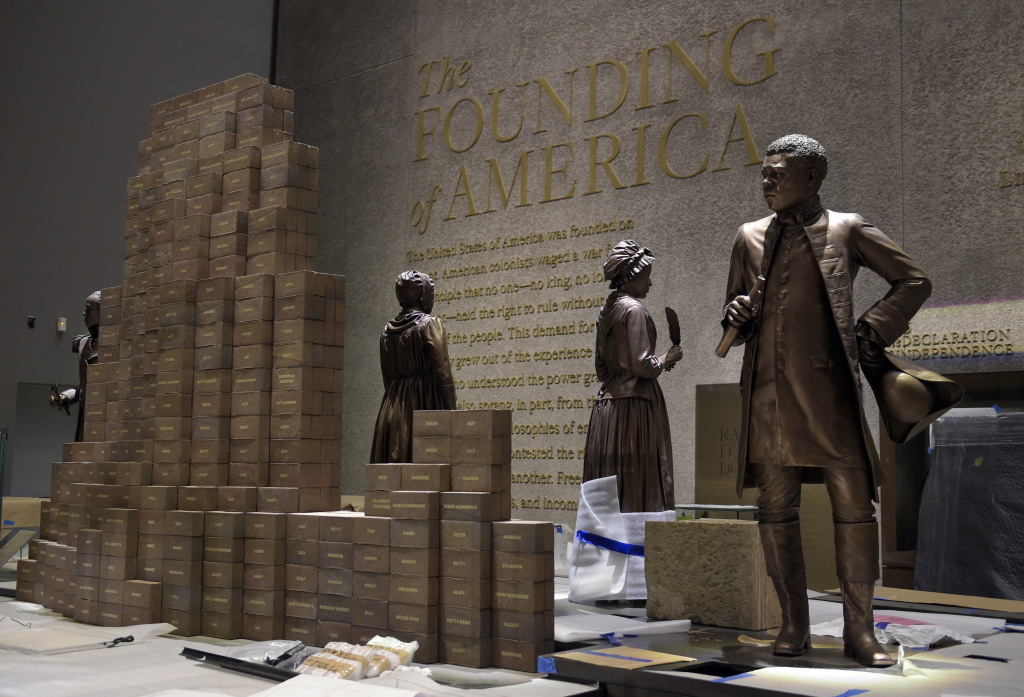 Preparations are finalized for the opening of the National Museum of African American History and Culture in Washington, Wednesday, Sept. 14, 2016. (AP Photo/Susan Walsh)