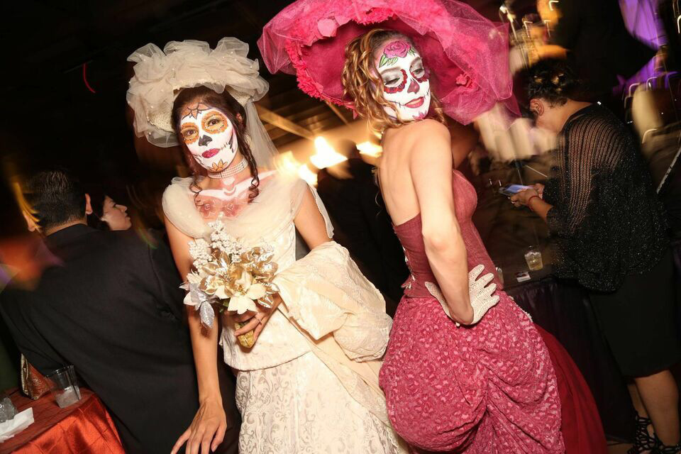Revelers celebrate Día de Los Muertos at the Museum of Latin American Art.