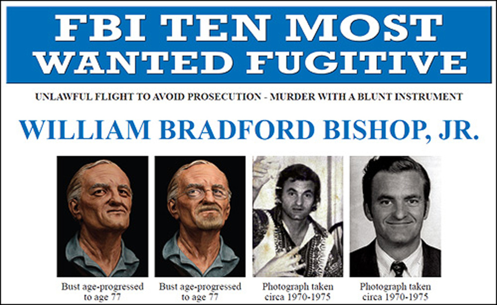 This undated handout image provided by the FBI shows the FBI's ten most wanted fugitive poster for William Bradford Bishop Jr. Bishop, diplomat suspected of killing his wife, mother and three sons in 1976 has been added to the FBI's list of