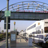 A Metrolink passenger train car arrives at the downtown Riverside station. A recent analysis of census data shows that more than 41 percent of the population growth in Riverside County, and more than 53 percent of the population growth in San Bernardino County, in the last two decades has been due to an increase in foreign-born adult residents.