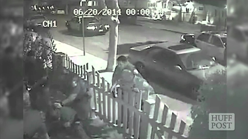 A still from the video of the June 20, 2014 arrest of Edgar Vargas-Arzate.