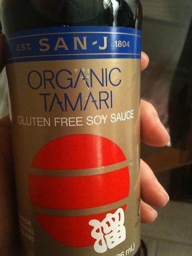 Gluten-free soy sauce.