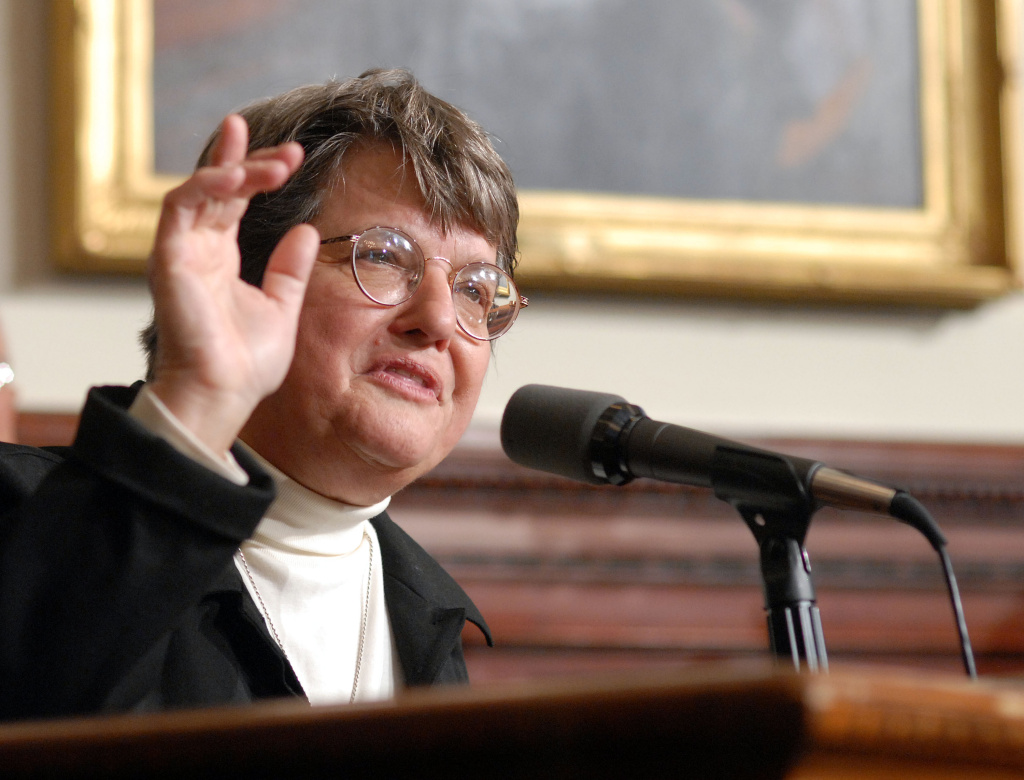 Sister Helen Prejean speaking about the death penalty in New Jersey in 2007. Lawyers for Boston Marathon Bomber Dzhokhar Tsarnaev may call the nun and death penalty opponent made famous in the film