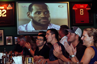 Fans watch in Miami as LeBron James announces where he'll be playing next season