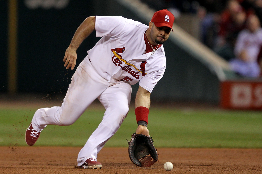 Albert Pujols of the St. Louis Cardinals has signed a 10 year contract with the Los Angeles Angels of Anaheim.