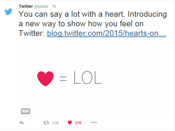 Why no love for Twitter's hearts? | 89 3 KPCC