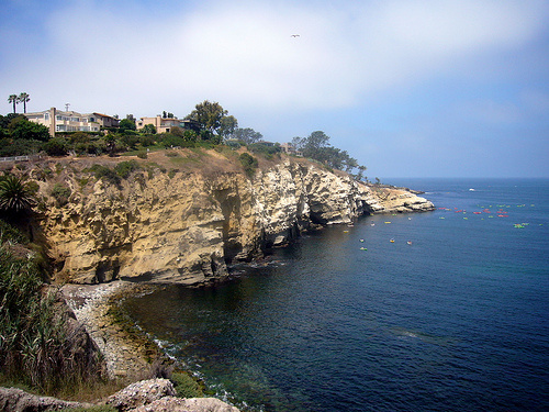 A shot of scenic La Jolla, where Republican presidential candidate Mitt Romney owns a third home and will seek to raise funds for his campaign.