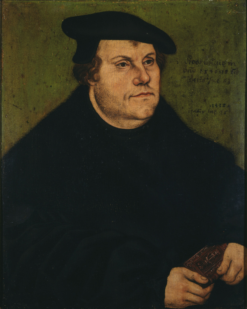Lucas Cranach the Elder (Workshop of), Portrait of Martin Luther, 1532