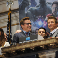 "Robert Downey, Jr. And Jeremy Renner Join Marvel Entertainment Executives Ring The NYSE Opening Bell In Celebration Of ""Marvel's Avengers: Age Of Ultron"""