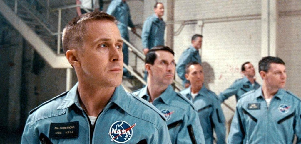 Ryan Gosling (front) stars as astronaut Neil Armstrong in