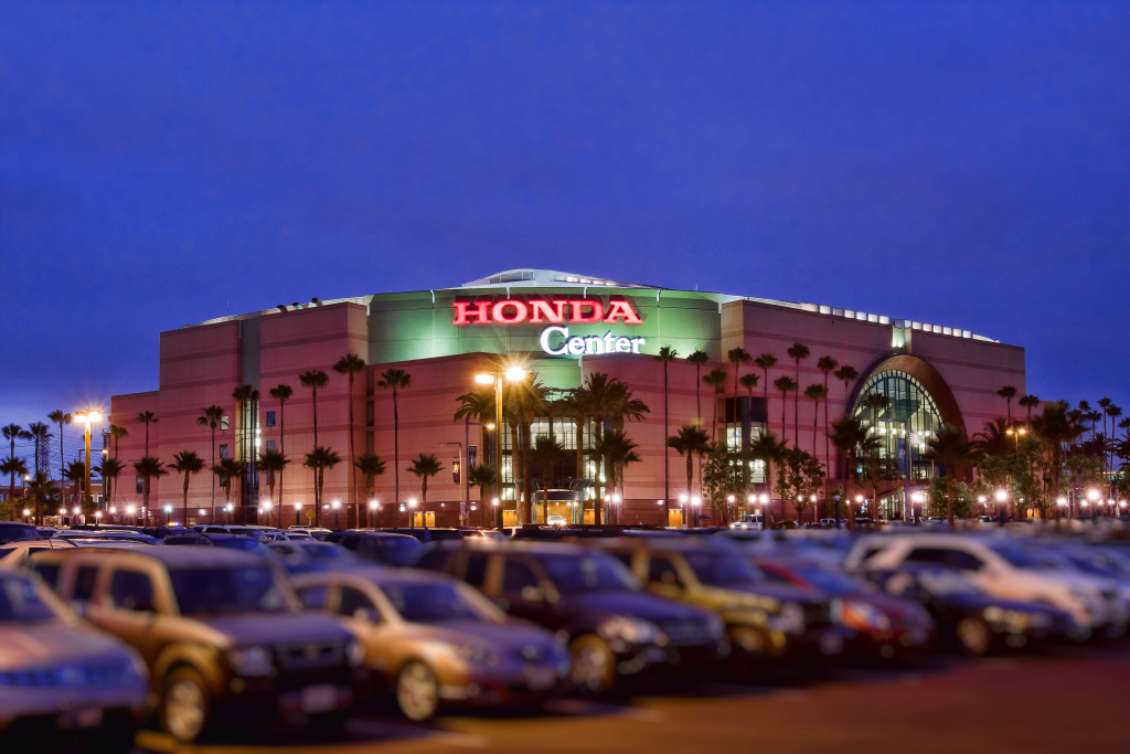 The Honda Center in Anaheim would host indoor volleyball in 2024.