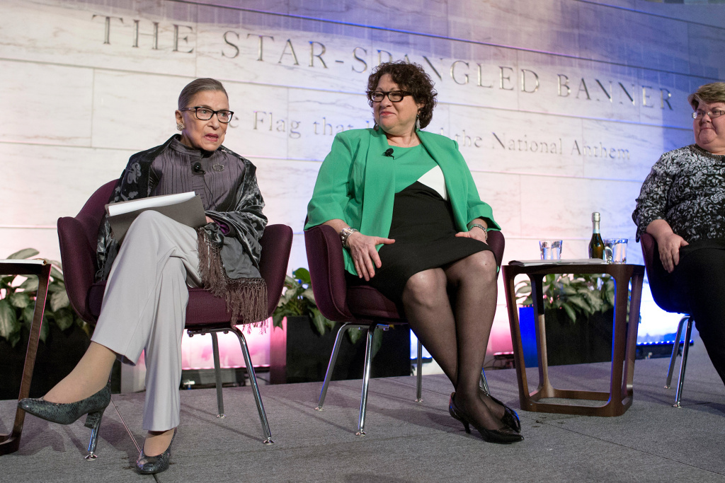 Supreme Court justices Ruth Bader Ginsburg and Sonia Sotomayor discuss the court's food traditions. RBG let us in on a secret: The reason she was not entirely awake at the State of The Union? She wasn't totally sober.