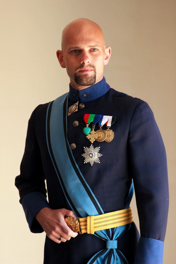 This April 8, 2015 photo shows His Royal Highness the Grand Duke of Westarctica, aka Travis McHenry, posing in his uniform in West Hollywood, Calif. McHenry will be among the largest gathering of world leaders this side of the United Nations, convening Saturday, April 11, 2015 at MicroCon 2015, what organizers say is the first North American gathering of micronations, those tiny little countries that pretty much nobody but the people who rule them believe really exist.