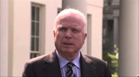 President Barack Obama today is looking to enlist the help of the man he defeated in 2008. Republican Sen. John McCain was at the White House for talks on Syria -- and was joined by fellow GOP Sen. Lindsey Graham of South Carolina. (Sept. 2)
