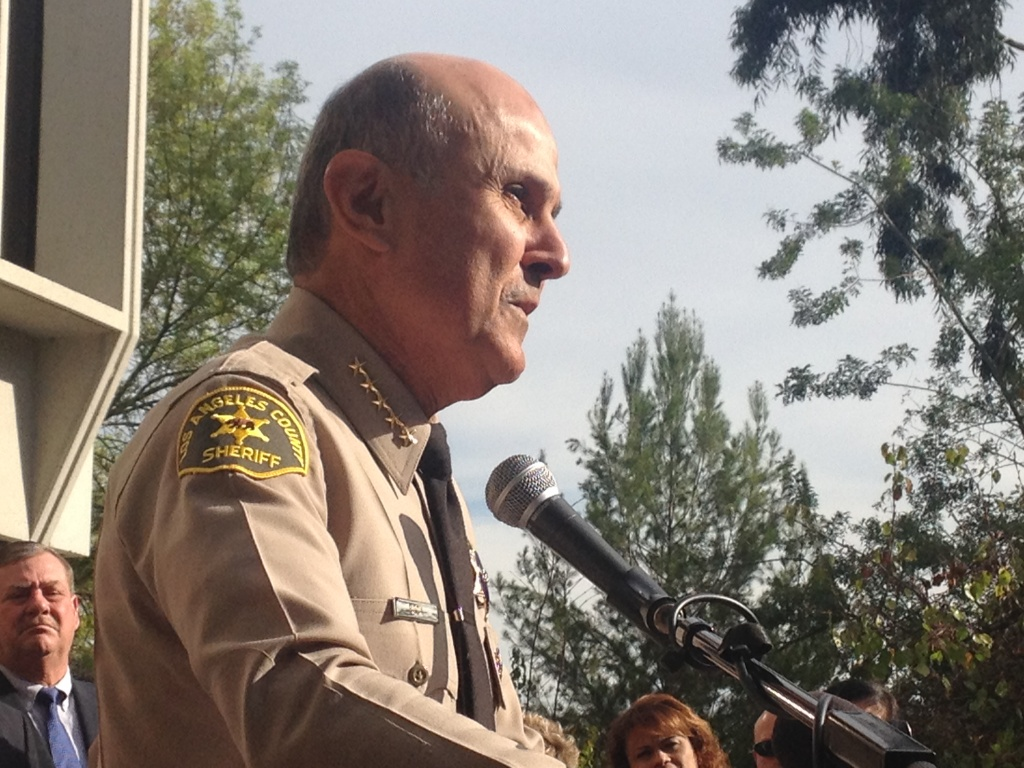 Los Angeles County Sheriff Lee Baca speaks at a press conference Jan. 7, 2014 where he announced his retirement.