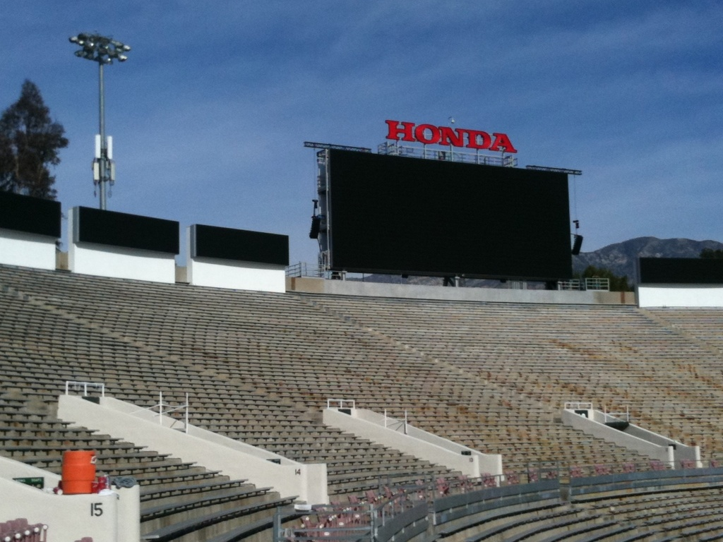 The new Honda sign will be at the Rose Bowl for at least five years.