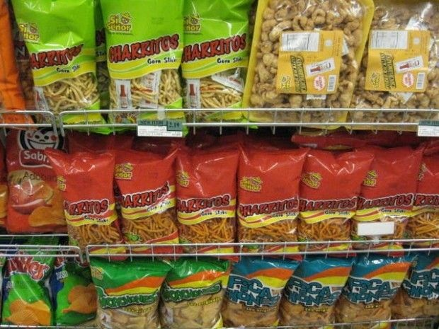 What a supermarket snack aisle looks like in a town that is more than 90 percent Latino, September 2010