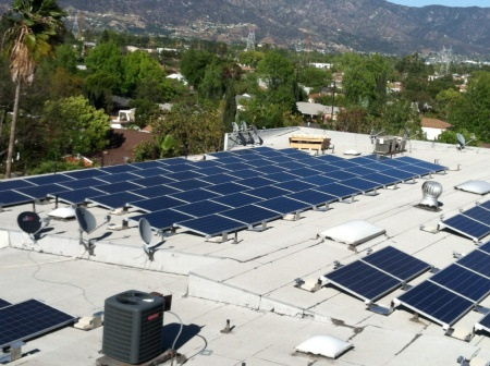 solar panels on North Hollywood apartment complex - feed-in tariff program