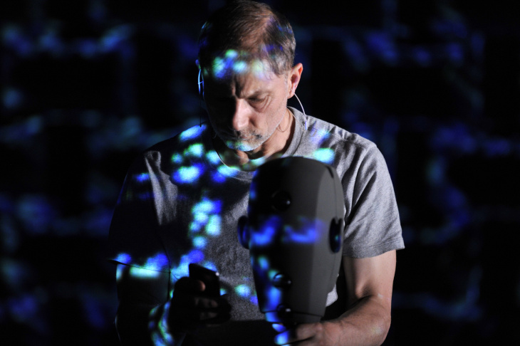 Simon McBurney stars in the one-man show,
