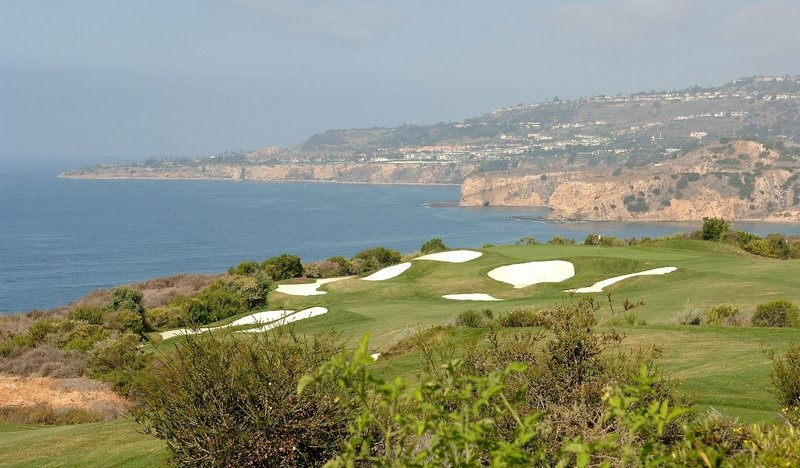 For years, now-President Trump fought with the city of Rancho Palos Verdes, Calif., over the Trump National Golf Club. The club is seen here in 2006.