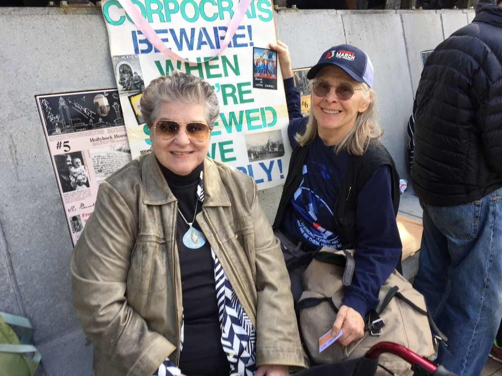 Sondra Hale (right) and Katherine King (left) both attended the Women's March of Los Angeles. They are retired UCLA professors.