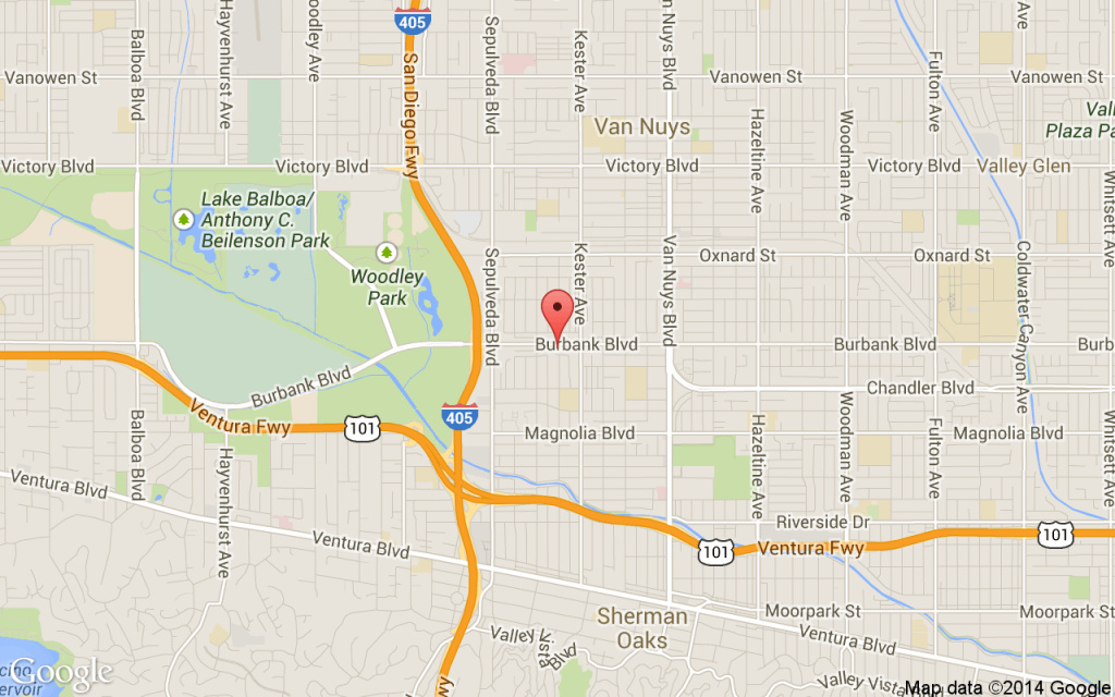 A brush fire erupted Friday in Van Nuys.