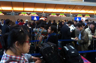 At LAX, flights to Japan were canceled. Singapore Airlines flights have been delayed until tomorrow.