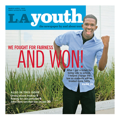 Maceo Bradley wrote an article for the most recent issue of L.A. Youth about he helped change a truancy ticketing policy at Los Angeles schools.