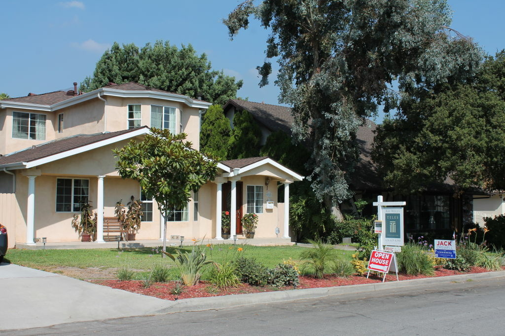 A home for sale in Arcadia, Calif. In Arcadia, 59 percent of home sales in the first quarter were paid in cash, according to RealtyTrac.