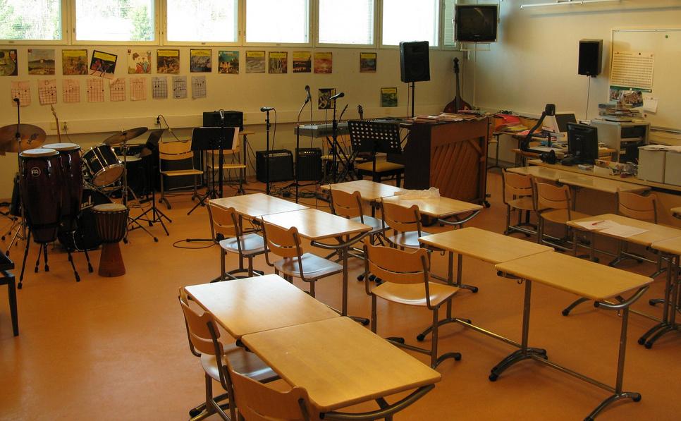 Music classroom (stock).