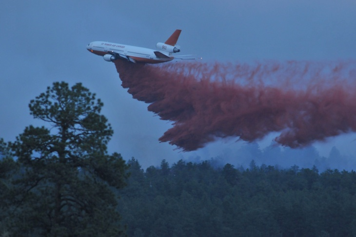 A fire that's been burning since Tuesday continues to consume acreage near Colorado Springs June 13, 2013 in Black Forest, Colorado.