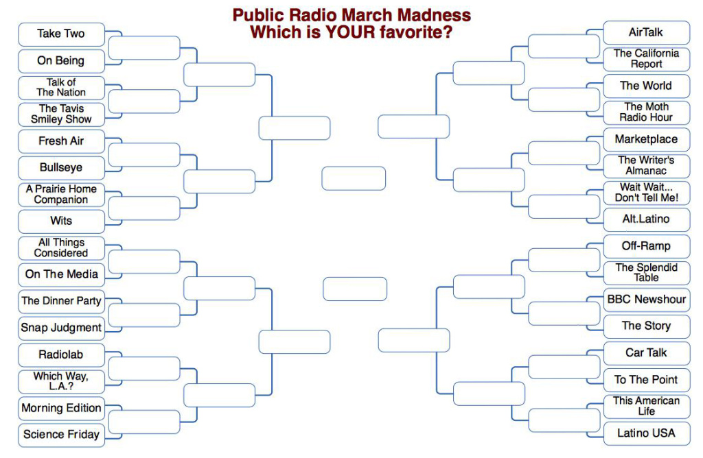 Public Radio March Madness: Which is YOUR favorite?