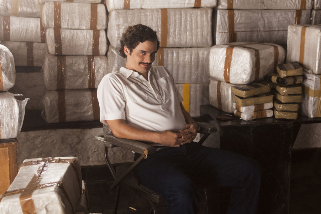 Wagner Moura stars as Pablo Escobar in the Netflix series
