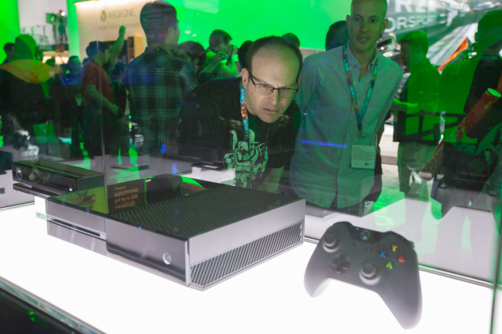 E3 attendees check out the new Xbox One, which is set for release in November, 2013.