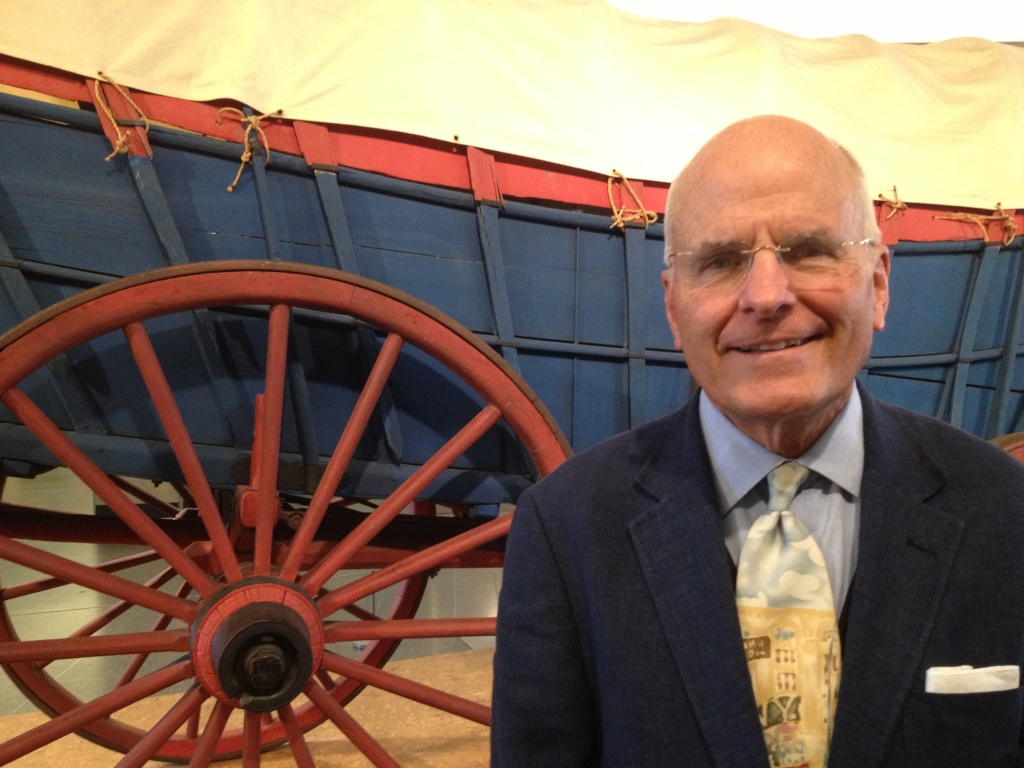 Gray oversees 3 million artifacts, including this Consestoga wagon